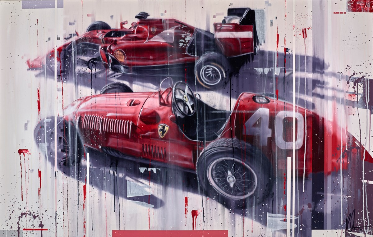 Classic Ferrari F1S by kris hardy -  sized 44x28 inches. Available from Whitewall Galleries